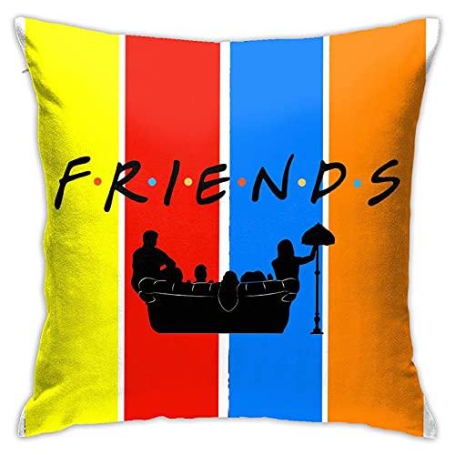 LINGSHANG Juego de fundas de almohada suaves para sofá cuadrado, fundas de cojín de algodón, fundas de almohada para Home Deco de 45,7 x 45,7 cm