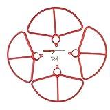 SM SunniMix 4 / Set Housse d'Hélice Pièces Détachées pour Drone RC Quadcopter Holy Stone HS700 - Rouge