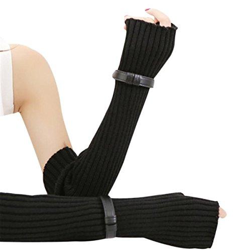 XCSSKG Super Deal Vrouwelijke Lange Handschoenen Dames Winter Handschoenen Warm Wol Handschoenen Gesp Toetsenbord Lek Vingerloze Handschoenen