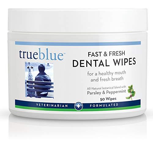 TrueBlue Parsley & Peppermint Fast and Fresh Dog Dental Swipes –...