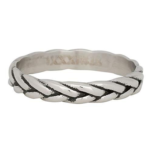 iXXXi vulring WHEAT KNOT zilver/zwart - 4 mm