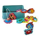 Xrten Juguetes de Pesca magnética de Madera, Juguetes al Aire Libre Piscina de Pesca Juego magnético Toddle para niños de 2 años