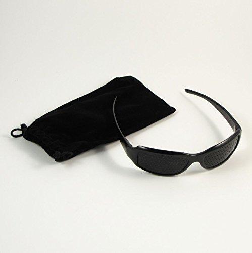 Rasterbrille Pinhole Glasses Lochbrille Loch Brille Nadelöhr Augentraining der Augentrainer Entspannung Sehschwächen