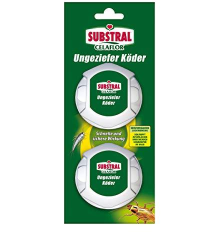 Celaflor Ungeziefer-Köder, Köderdose gegen Schaben, Silberfischchen und anderes kriechendes Ungeziefer, 2 Dosen