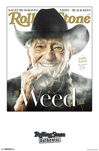 Trends International Rolling Stone - Willie Nelson 19 Wall Poster, 22.375' x 34', Multi