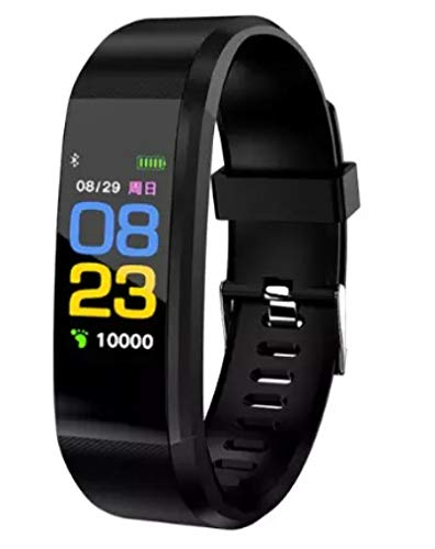 Factory Outlet Reloj inteligente 115 Plus ritmo cardíaco ajuste bit banda inteligente pulsera TFT pantalla a color reloj inteligente (negro)