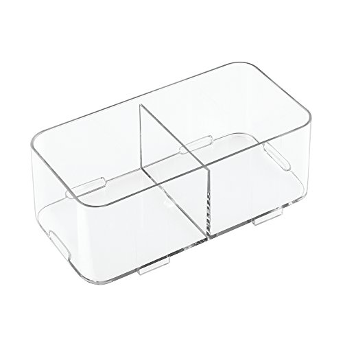 Price comparison product image iDesign Clarity Interlocking Divided Drawer Organizer / Storage for Soap / Cosmetics / Beauty Products,  Clear,  Medium