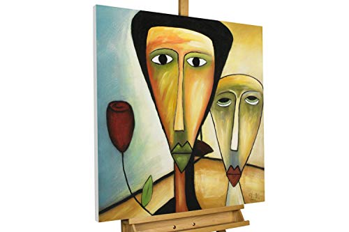 KunstLoft® Acryl Gemälde 'Amorous Walk' 80x80cm handgemalt Leinwand Bild