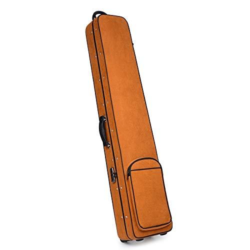 Oxford doek rugzak Guqin guqin instrument pakket doos licht doos gecontroleerd bagage sleepboot katrol wielen Linnen Bruin