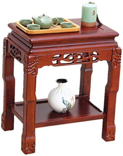 WYQ - Mesa cuadrada retro, madera maciza salón sofá mesa de té lateral mesa de teléfono mesa restaurante decoración ocio mesa negociación mesa