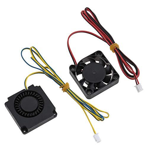 2pcs 4010 ventiladores de radiador de calor extrusora 12 V DC extremo caliente Turbo con conector de 2 pines compatible para impresora 3D Ender 3/3 Pro