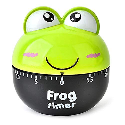 haoyuestory Küchentimer, Küchenuhr Timer, Cartoon Frosch Form Design Timer, Mechanischer Countdown Alarm Küche Kochen Erinnerung Werkzeug Zuhause Decor