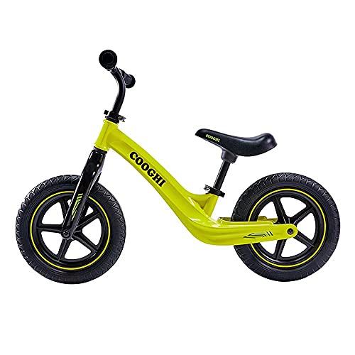 Gymqian Bige Bike No Pedal de Pedal Aleación de Magnesio Neumáticos de Goma 360 ° Manillar Pu Cojinete Suave Del Asiento de la Pu Manija Del Asiento T 2-6 Años de Edad 80-120 cm 50Kg 84 * 37 * 60 cm,