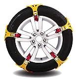 10 PC / Set TPU Moto De Nieve De Invierno Con Rodillo Tipo Tendón Engrosamiento Cadena De Neumáticos,Neumático De Emergencia...