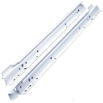 RONIN FURNITURE FITTINGS® Blum Schubladenschiene, Rollschubführung Teilauszug 550mm, 25kg, EB=12,5mm RAL9001 cremeweiss 230M5500