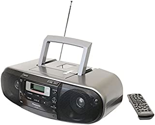 Panasonic RX-D55GC-K Boombox – High Power MP3 CD AM/ FM Radio Cassette Recorder with USB & Music Port Sound with 2-Way 4-S...