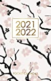 2021-2022 Pocket Calendar: 2 year calendar in compact size, 24 months (January 2021 - December 2022), Cherry blossom cover : monthly planner/ time management/ Schedule Organizer/ Appointments