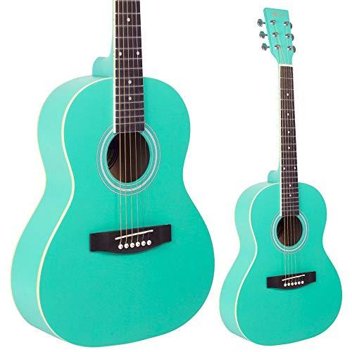 Lindo Traveller Seafoam - Guitarra acústica (tamaño 3/4, con ...