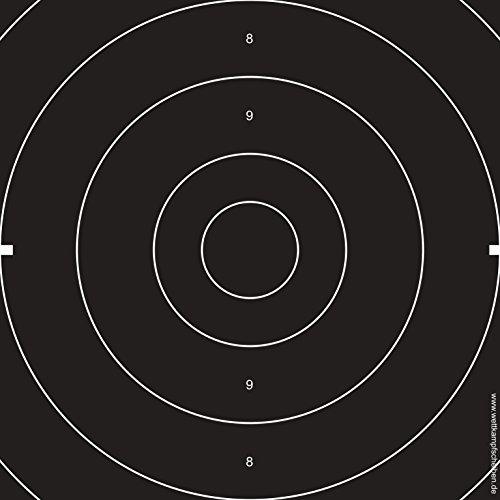 Druckteam Schleede & Partner Duellmittelteile Sportpistole Schießscheiben (Einsteckscheiben) (50 Stück)
