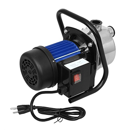 Angotrade 1.6HP Shallow Well Sump Pump, Portable Transfer Water Pump Stainless Booster Pump Lawn Water Pump Electric Water Transfer Home Garden Irrigation (Blue)