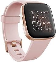 Ga voor een gezond en actief leven met Fitbit Versa 2, de premium smartwatch met spraakbediening, slaapscore,...