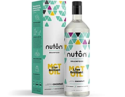 Ultra Premium MCT Oil by Nuton, C8 and C10 only Blend from Organic Coconuts | Same Formula as Bulletproof XTC Oil for Bulletproof Coffee | Keto and Paleo Certified by Nuton