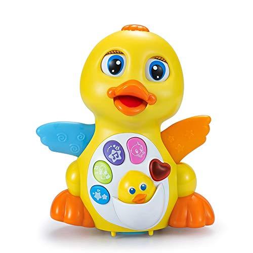 Lihgfw Little Ente Toy Pendel Gans Kindermusik Elektrische Puzzle Wird Laufen und tanzen großes gelbes Entenspielzeug (Color : Yellow)