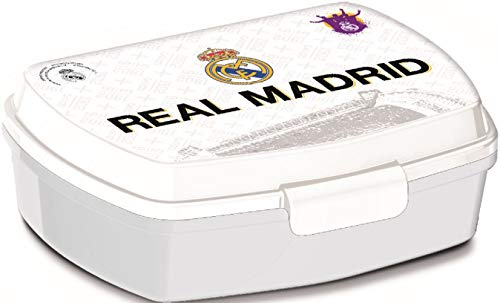 ALMACENESADAN 2531; Sandwichera Rectangular Multicolor Real Madrid CF; Producto de plástico; NO BPA;