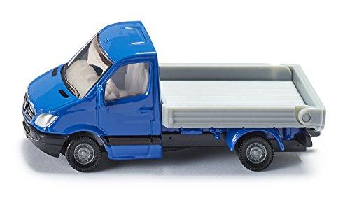 Siku 1424, Transporter mit Pritsche, Metall/Kunststoff, blau/grau, Kippbare Pritsche