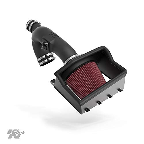 K&N Cold Air Intake Kit with Washable Air Filter: 2011-2014 Ford F150, 3.5L V6, Black HDPE...