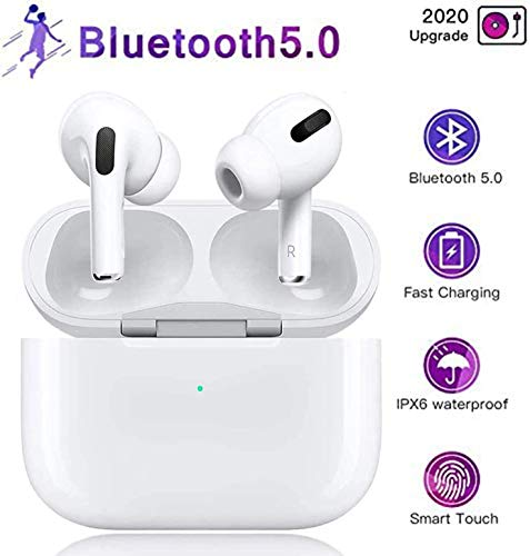 Bluetooth-Headset 5.0, drahtloses Touch-Headset, Stereo-In-Ear-Sport-Headset mit Ladebox, integriertes 3D-Mikrofon mit Geräuschunterdrückung, geeignet für Android/AirPods Pro/iPhone