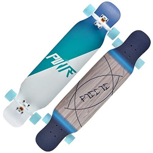 qwert Longborads Skateboards 42 Zoll Komplette Drop Down durch Deck Cruiser Pro Longboard 8-Layer-Maple zum Carvenieren von Freestyle-Fahrten im Downhill-Cruising