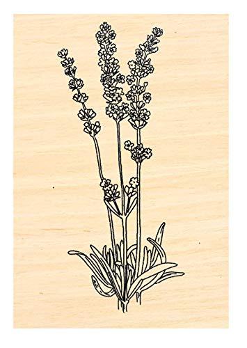 P106 Larger Lavender Rubber Stamp 2.75x1.25'