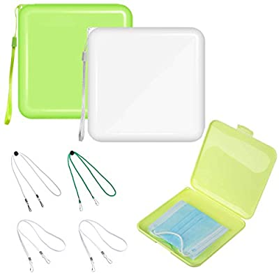 Amazon - Save 80%: 2Pack Portable Mask Storage Box Mask Case Holder Container Keeper…