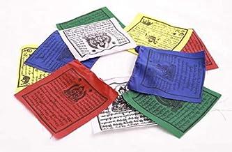 Bodhiartistry 100% Cotton Authentic Tibetan Buddhist Green Tara & Wind Horse Mixed Prayer Flag- Large