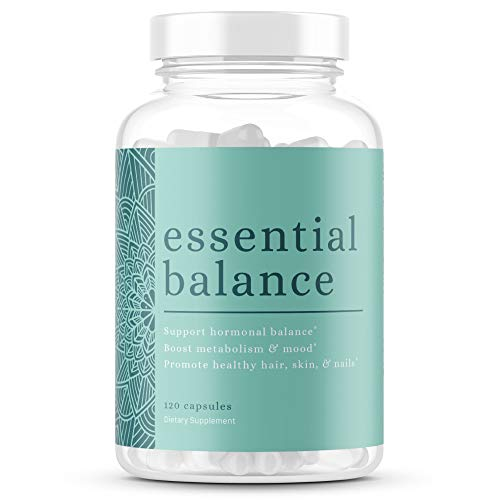 Essential Balance by Foxy Fit | Women's Hormonal Balance, PCOS Supplement Aid, Menstrual Cycle Support | Estrogen Hormone Balance, Reduce Acne and Clear Complexion (30 Servings)
