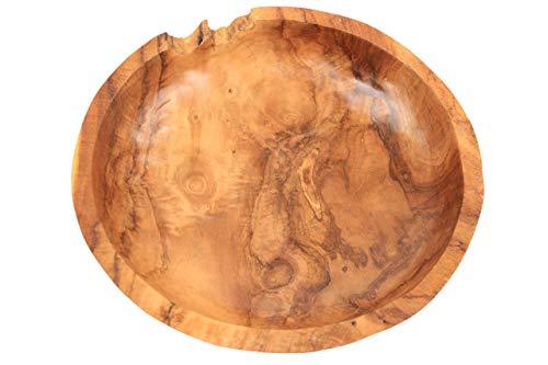 ANDALUCA Rustic Teak Wood Hand Carved Organic Bowl (11'-12' Diameter)