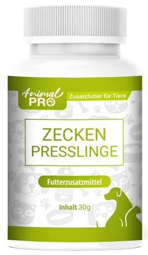 Animal Pro - Zecken Presslinge - 60 Presslinge/Zeckenschutz für Tiere/Mittel für Hunde & Katzen gegen Zecken