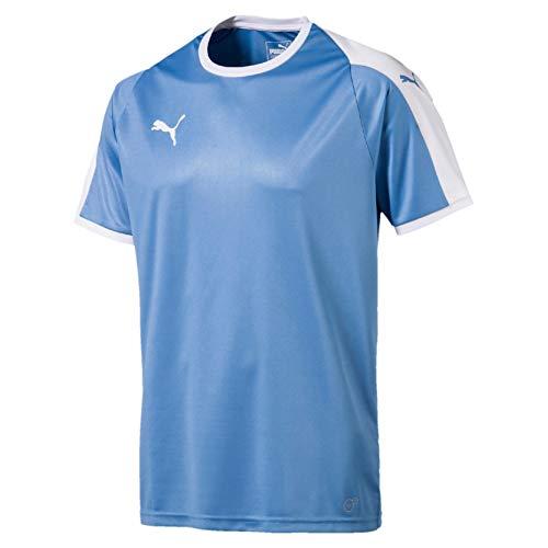 Puma Herren Liga Jersey T-Shirt, Silver Lake Blue White, XL