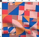 Rot, Dunkel, Blöcke, Formen, Bauhaus, Geometrisch Stoffe -