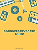beginners keyboard music: Blank Sheet Music Composition and Notation Notebook /Staff Paper/Music Composing / Songwriting/Piano/Guitar/Violin/Keyboard ... for beginners adult/hatchim/acoust(Size 8.5
