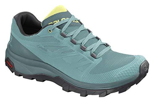 Salomon 412340_39 1/3, Zapatos de Trekking Mujer, Green, EU