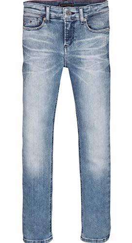 Tommy Hilfiger Scanton Slim Rabdst Jeans, Blu (Rapt Blue Destructed Stretch 1a5), (Taglia Unica: 74) Bambino
