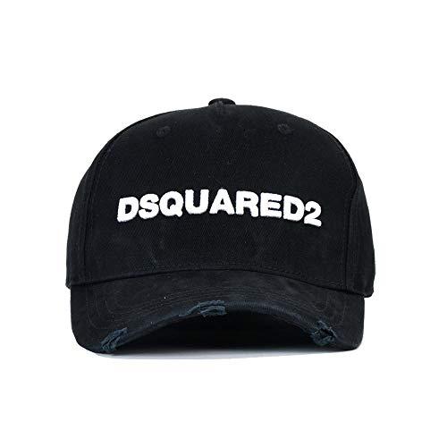 sdssup Herren Baseball Cap DSQ Fashion Flut Hut Damen Wild Hut D78 schwarz verstellbar