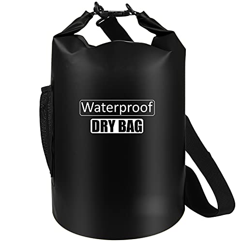 AILGOE Dry Bag 5L/10L/15L/20L/25L/30L/40L Leicht Wasserfester Rucksack/wasserdichte Tasche/Trockensack mit lang Verstellbarer Schultergurt für Boot und Kajak Wassersport Treiben(Schwarz,40L)