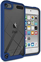 iPod Touch 7 Case, iPod Touch 6 Case, iPod Touch 5 Case with Full-Body Armor Hybrid Rugged Military Shockproof Hard Cover Protective Bumper Phone Case for Apple iPod Touch 7th/6th/5th Gen -Blue