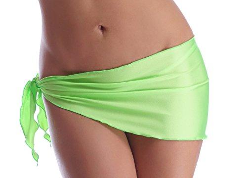 Sexy Tuch Bikini Rock Strandtuch Hüfttuch zum Binden (Neongrün)