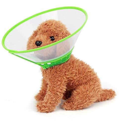Mascota encantadora bonita hermosa moda cómoda pet de mascotas cuello de cabeza cubierta de embudo cubierta anti bocado lamer seguridad práctico cuello protector, tamaño: s, adecuado para cuello 15-20