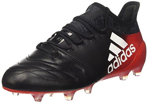 adidas Herren X 16.1 Leather FG Futsalschuhe, Mehrfarbig (Cblack/ftwwht/red), 44 2/3 EU
