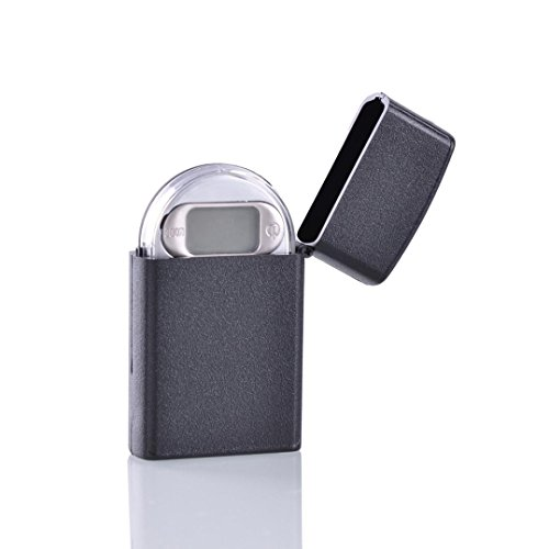 Winkey Digitale Taschenwaage, 0,01 ~ 200 g, Mini-Feuerzeug-Design, Digitalwaage, LCD-Display, ultradünn, für Schmuck, Gold / Silber, Kräuter, tragbare Taschenwaage